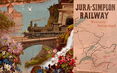 L'affiche mythique du Jura-Simplon