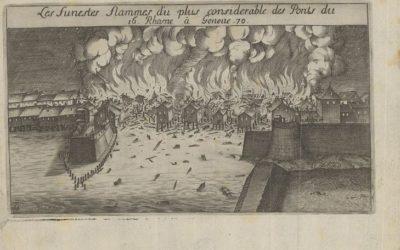 L'incendie du pont du Rhône