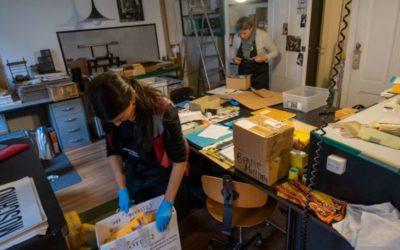 Fonds Dany Gignoux (3): les travaux préparatoires et le déménagement au Centre d'iconographie