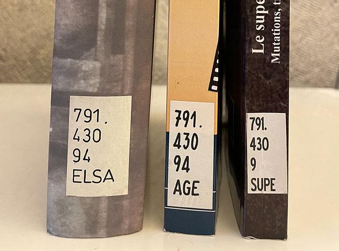 L'évolution des étiquettes de cotation des livres de la Bibliothèque de Genève