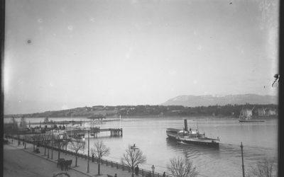 Genève au fil du temps: quai du Mont-Blanc