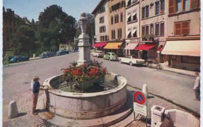 Genève au fil du temps: Stationnement au Bourg-de-Four